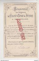 Au Plus Rapide Montpellier Hérault Pensionnat Sacré Coeur De Jésus 1 Er Accessit Histoire Edmée B.. 21 Juillet 1903 - Diplomi E Pagelle