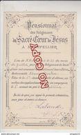 Au Plus Rapide Montpellier Hérault Pensionnat Sacré Coeur De Jésus 2 è Accessit Répétition Edmée B.. 21 Juillet 1903 - Diplomi E Pagelle