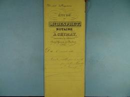 Acte Notarié 1881 Vente Publique De Récoltes Par Hardy De Cul-des-Sarts, Simon De Virelles.../1/ - Manuscrits