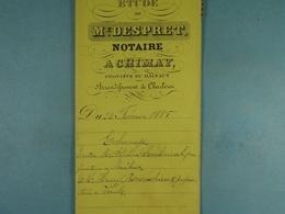 Acte Notarié 1885 Echange Coulonval De Baileux Ave  Béroudiaux De Vaulx /2/ - Manuscrits