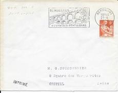 GARD  -  REMOULINS   FLAMME   REM   308  S  -   AU TARIF   IMPRIME     (voir Description) - Postmark Collection (Covers)