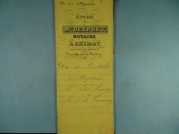 Acte Notarié 1881 Obligations Par Hardy à Tournay De Chimay /3/ - Manuscrits