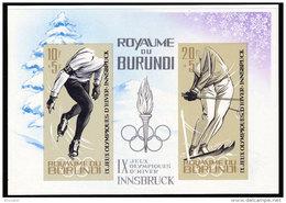 Burundi BL 0003A**  Non Dentele - Jeux Olympique D'Innsbruk  MNH - Burundi