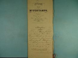 Acte Notarié 1860 Obligation Par Evrard à Frisque De Louvranges Sous Wavre /4/ - Manuscrits