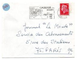 EURE Et LOIR - Dépt N° 28 = EPERNON 1969 ? = FLAMME Codée = SECAP Illustrée ' EGLISE + PRESSOIRS ' - Postmark Collection (Covers)