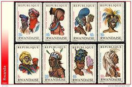 Rwanda 0301/08** Coiffes Africaines I  MNH - Ruanda