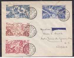 """NELLE CALEDONIE PA 55 à 60  """"Tchad Au Rhin"""" Sur Enveloppes Datées Du 15 JANV 47 (300 € De Côte) - Luftpost"""