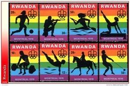 Rwanda 0761/68**  Jeux Olympiques De Montreal MNH - Rwanda