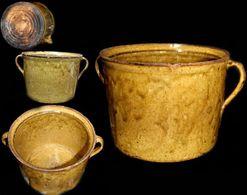 Ancienne Terre Cuite Vernissée Slovaque XIXème / Old Slovakian Clay Pot - Popular Art