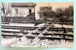 Cliche RARE  Aiguillage Et Croisement Ferroviaire à Winpelles Cliché Schnabel - Schienenverkehr