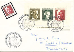 Germany Cover Special Postmark Karlsruhe 23-11-1969 With Minisheet 50 Years Of Women's Suffrage 1969 - [7] République Fédérale