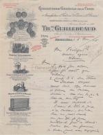 16 2046 ANGOULEME CHARENTE 1918 Robinneterie Pour Chais TH. GUILLEBEAUD Caoutchouc FONDERIE CUIVRE BRONZE Pompe - 1900 – 1949