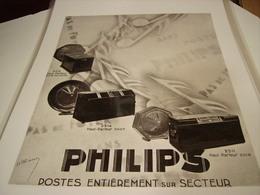 ANCIENNE PUBLICITE HAUT PARLEUR DE PHILIPS - Other