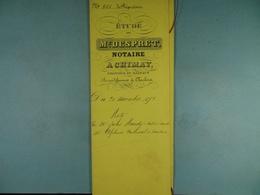 Acte Notarié 1892 Vente Par Hardy De Cul-des-Sarts à Coulonval De Baileux /7/ - Manuscrits
