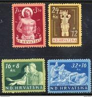 CROATIA 1944 War Invalids Set MNH / **.  Michel 154-57 - Croatia