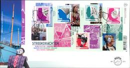 Netherlands FDC 2013, Schöne Niederlande: Regionale Trachten - Kopfbedeckungen (III), Michel Block 147 (43) - FDC