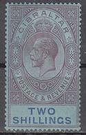 GIBRALTAR    SCOTT NO.  85A    MINT HINGED    YEAR  1921   WMK 4 - Gibraltar