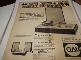 ANCIENNE PUBLICITE ELECTROPHONE CLAUDE CADET  1960 - Other