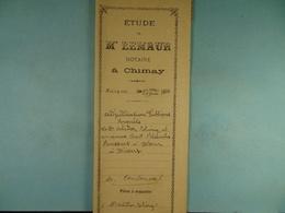 Acte Notarié 1900 Adjudication Publique Thiry Rassart à Dour à Divers /10/ - Manuscrits