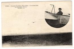 NIORT (79) - Semaine D'Aviation (Mars 1910) - L' Aviateur NOËL Sur Monoplan Blériot En Plein Vol - Airmen, Fliers