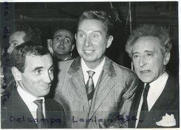 - Photo De Presse - Original - Jean COCTEAU, Charles TRENET, Charles AZNAVOUR, à L'Alhambra, 13-11-1960,  Scans. - Beroemde Personen