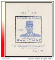 Rwanda BL 023**Général De Gaulle  MNH - Rwanda