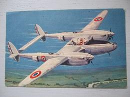 """LE """"LIGHTNING """" / AVION DE CHASSE  / ILLUSTRATION L. PETIT / BELLE CARTE - 1939-1945: 2nd War"""