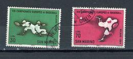 St MARIN - BASE-BALL N° Yvert 637/638 Obli. - Saint-Marin