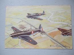 MORANE 406 / AVION DE CHASSE  / ILLUSTRATION CHARDONNEAU / BELLE CARTE - 1939-1945: 2ème Guerre