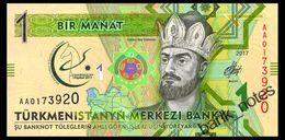 TURKMENISTAN 1 MANAT 2017 Pick 36 Unc - Turkmenistan
