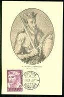 CM-Carte Maximum Card #1955-Portugal # Celebrity # Dynasty Of Portugal # D. Afonso Henriques , O Conquistador #Guimaràes - Cartes-maximum (CM)