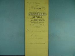 Acte Notarié 1859 Vente De Bayard De Bourlers à Coulonval De Vaulx /11/ - Manuscrits