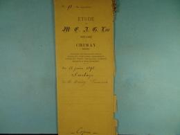 Acte Notarié Copie 1896 Partage Hardy François Brasseurs De Cul-des-Sarts  /12/ - Manuscrits