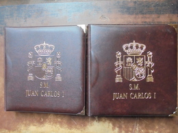 ESPAGNE 1975-2001 DONT MONNAIES ARGENT+DATES RARES EN 2 ALBUMS-SUPERBE COLLECTION !!! - Spain
