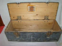 Caisse à Munitions Allemande En Bois époque 2ème G.M - 1939-45