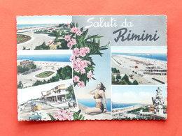 Cartolina Saluti Da Rimini - Varie Vedute - 1957 - Rimini