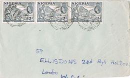 28192. Carta NITSHA (NIgeria) 1957 To  England - Nigeria (...-1960)