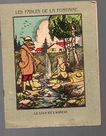 Cahier D'écolier Avec Couverture Illustrée: LE LOUP ET L'AGNEAU (La Fontaine) (PPP8190) - Blotters