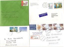 Timbres Du Monde Sur Lettre Courrier Postal 5,8 Kg - Briefmarken