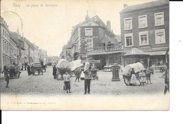 Huy -  La Place St Germain - A. 4271 Wilhelm Hofffmann A. G. Dresde - Attelage - Glacier - Circulé - Voir 2 Scans. - Hoei