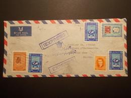 Marcophilie  Cachet Lettre Obliteration - TEHRAN Iran Destination FRANCE - 1967 - (1929) - Iran