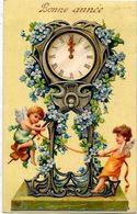 CPA Angelot Ange Chérubin Fantaisie Angel Gaufré Embossed Pendule Horloge - Angels