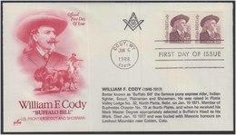 William F Cody Freemason Platte Valley Lodge 32 Freemasonry, Buffalo Bill Cody, Express Rider, Horse Masonic Cover USA - Franc-Maçonnerie