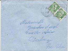 LETTRE 1948 AVEC CACHET DAGUIN LE THOR VAUCLUSE SES GROS VERTS - Postmark Collection (Covers)