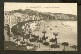 CP- Paseo Y Playa De La Concha - San Sebastian - Autres