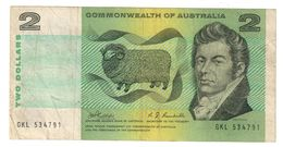 Commonwealth Of Australia 2 Dollars 1968 Phillips Randall - Decimal Government Issues 1966-...