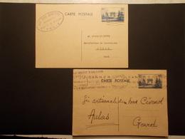 Marcophilie  Cachet Lettre Obliteration - Entiers Postaux FRANCE Arc Triomphe - 1939/1940 - (1934) - Entiers Postaux