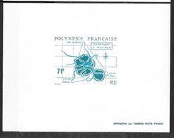 Polynésie Epreuve Imprimerie Des Timbres Postes  Du N°357 Ile De Tahiti Et Céphalopode   TB    ............soldé - Non Dentelés, épreuves & Variétés