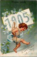CPA Angelot Ange Chérubin Fantaisie Angel Gaufré Embossed Année 1905 - Angels