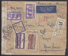 SYRIE - Enveloppe Recommandée De Homs, Par Avion, Du 21-4-1942, Pour Le Camp Kieffer à Mazagan (Maroc Français) - - Syrie (1919-1945)